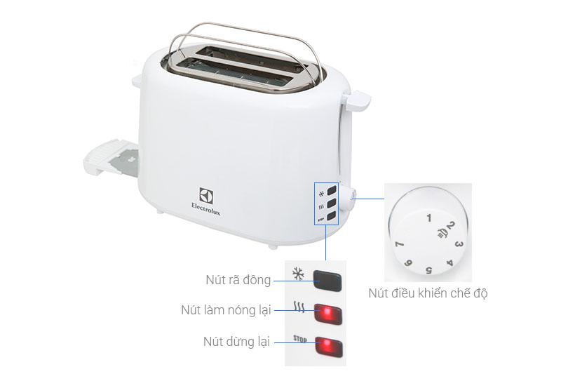 Chế độ nướng - Máy nướng bánh mì Electrolux ETS1303W
