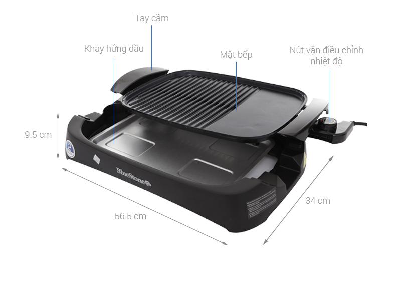 Thông số kỹ thuật Bếp nướng điện Bluestone EGB-7411 2000 W