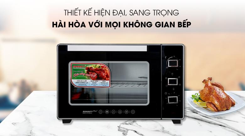 Thiết kế Lò nướng Sanaky VH5099S2D 50 lít