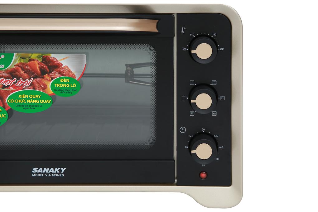 Điều khiển núm vặn - Lò nướng Sanaky VH309N2D 30 lít