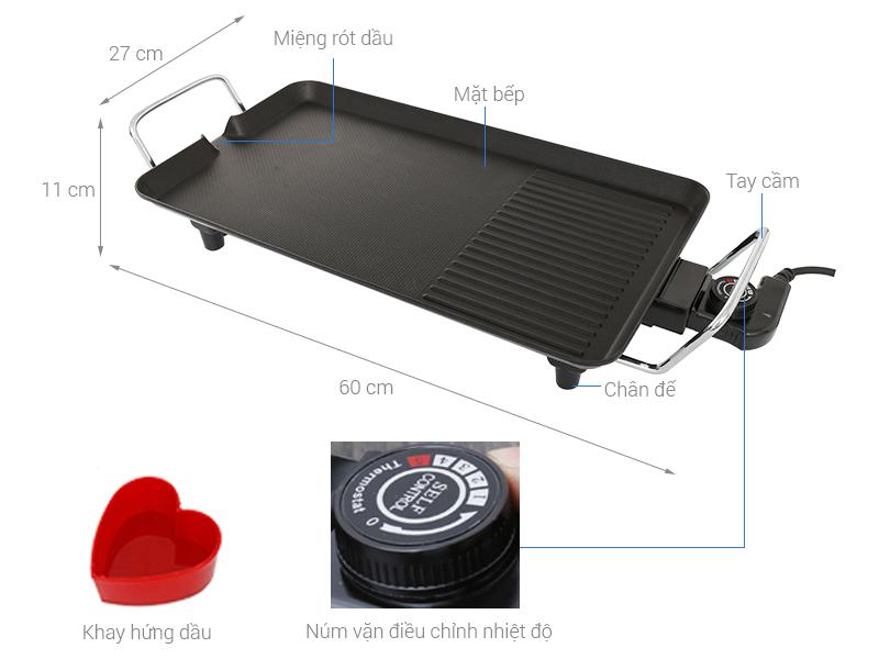Thông số kỹ thuật Bếp nướng điện Kangaroo KG 699 2000 W
