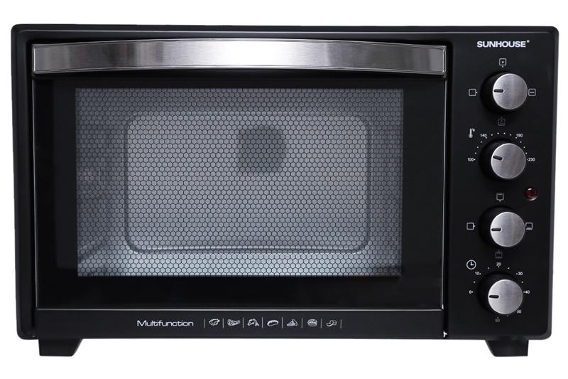 Công suất 1600 W nướng thực phẩm chín nhanh - Lò nướng Sunhouse SHD4238S 38 lít