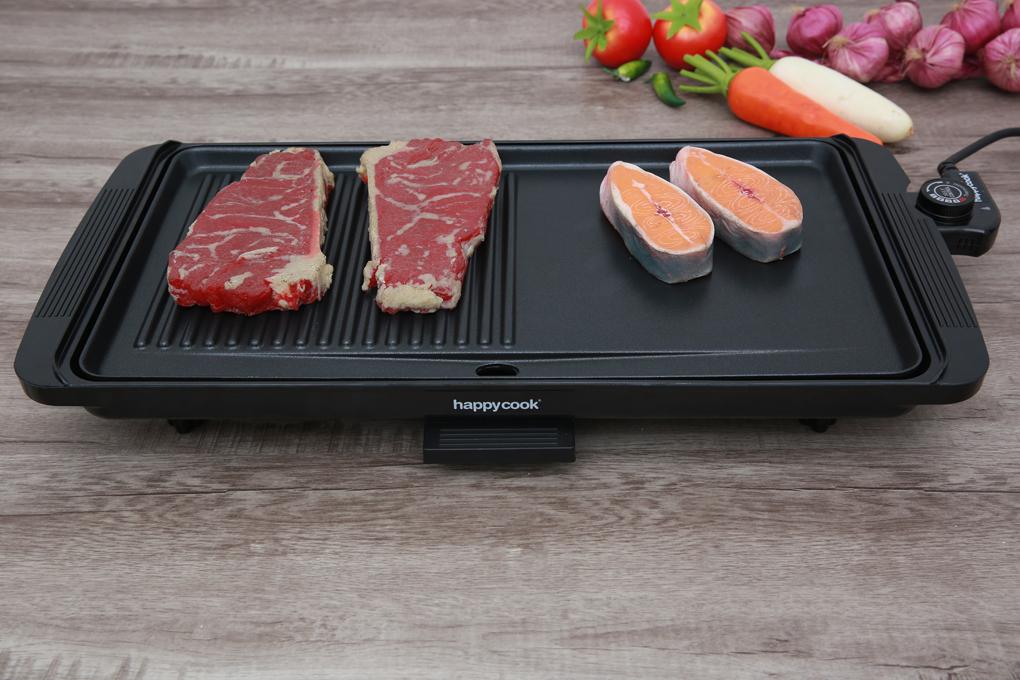 Có kiểu dáng đơn giản, hiện đại, chân đế cứng chắc - Bếp nướng điện Happycook HGR 4610 2000 W