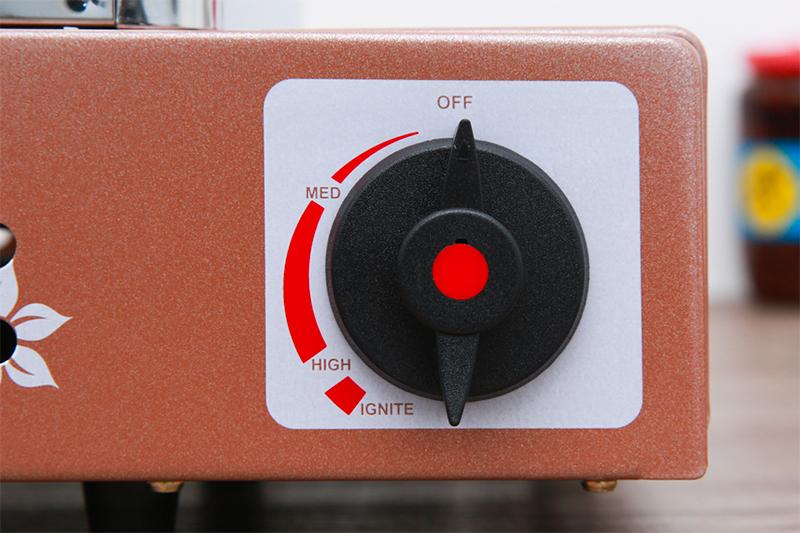 Bếp nướng gas Namilux NH-84N - đánh lửa nút vặn dễ dùng