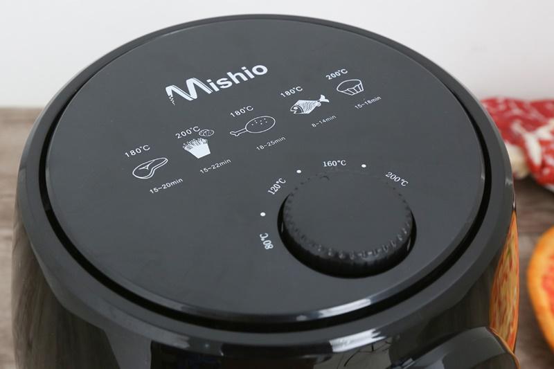 Núm vặn chỉnh nhiệt độ từ 80 - 200 độ C - Nồi chiên không dầu Mishio MK-01 3.8 lít