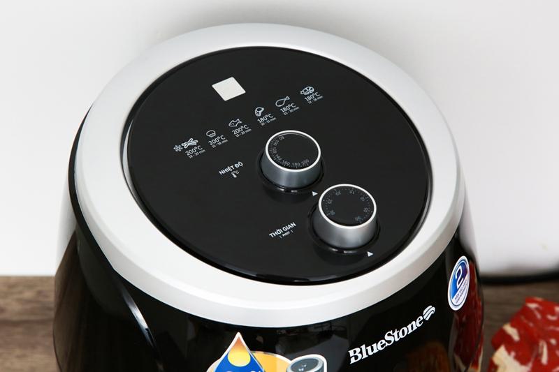Núm vặn dễ dùng - Nồi chiên không dầu Bluestone AFB-5870 5 lít