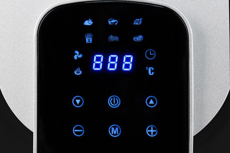 Bảng điều khiển cảm ứng nhạy bén - Nồi chiên không dầu Mishio MK-165 5.5 lít Đen