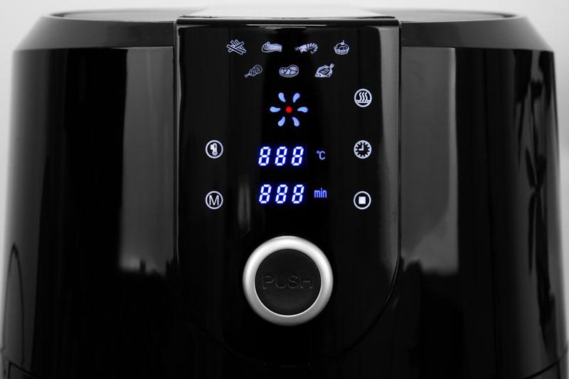 Bảng điều khiển nút nhấn điện tử + nút xoay với chỉ dẫn đơn giản, rõ ràng - Nồi chiên không dầu Kangaroo KG55AF1A 5.2 lí