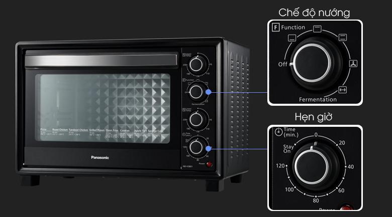 Nhiều tùy chọn tiện ích - Lò nướng Panasonic NB-H3801KRA 38 lít