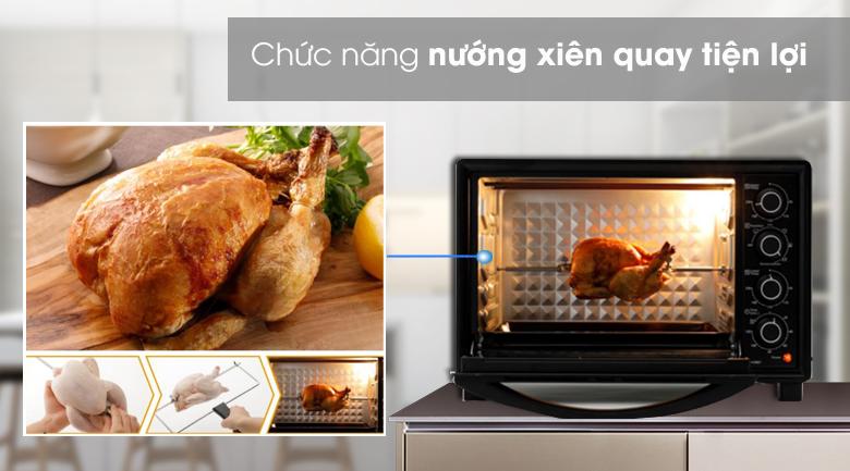 Nướng xiên quay tiện lợi - Lò nướng Panasonic NB-H3801KRA 38 lít