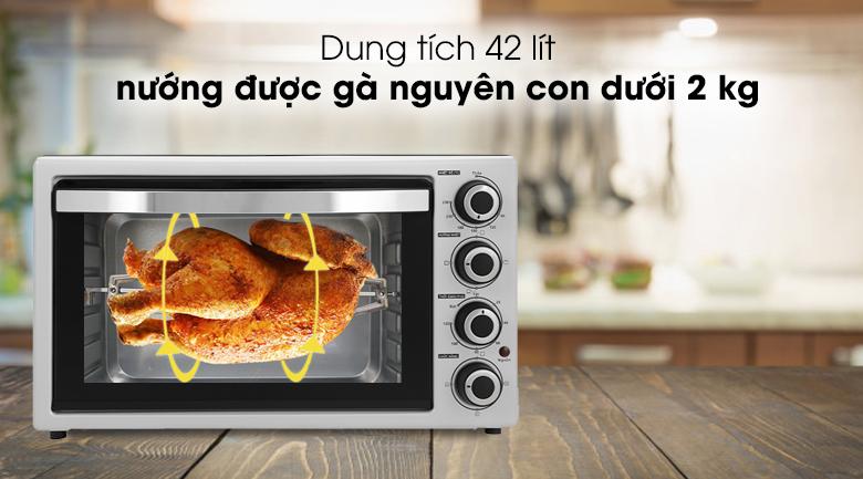 Lò nướng Galanz KWS2042LQ-H8UK 42 lít - Đáp ứng nhu cầu nướng bánh, nướng thịt cá, rau củ trong gia đình, quán ăn với dung tích 42 lít