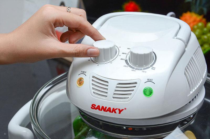 Lò nướng thuỷ tinh Sanaky 188 15 lít