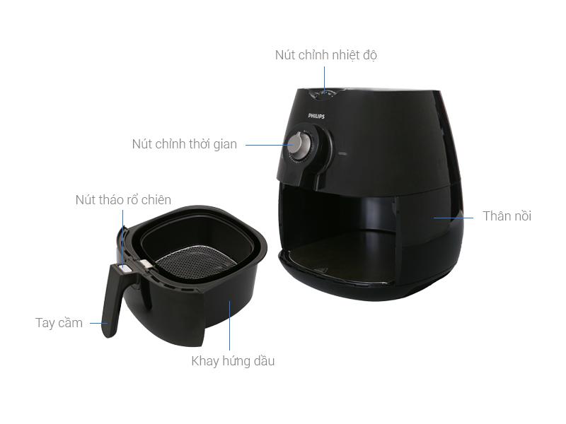 Image result for Nồi chiên không dầu PHILIPS HD-9220