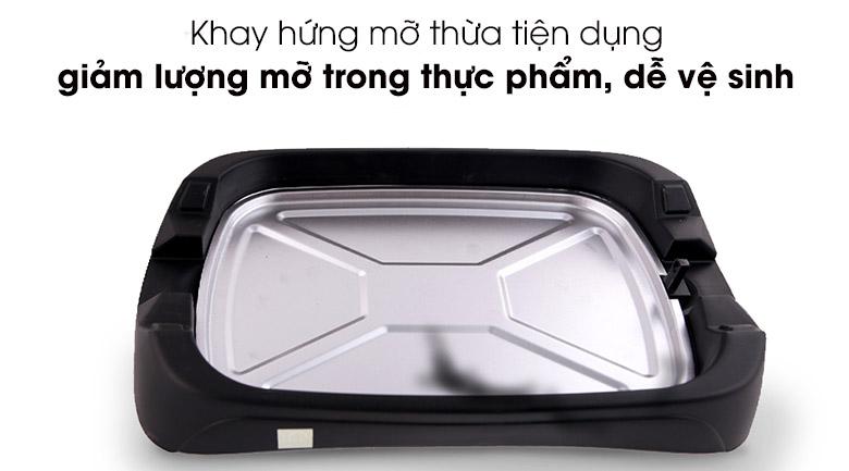 Khay hứng mỡ thừa - Bếp nướng điện Sunhouse SHD4602