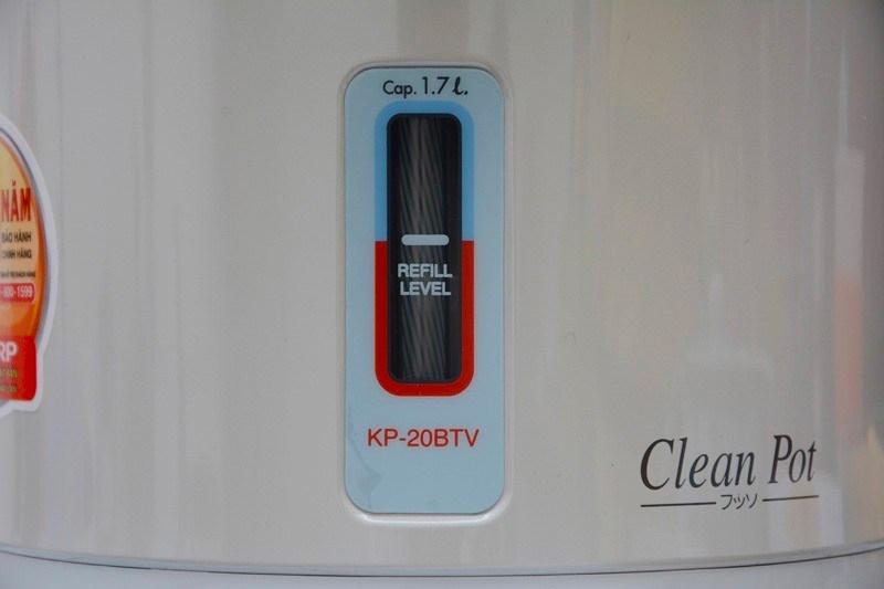 Bình thủy điện Sharp KP-20BTV 1.7 lít - thang đo mực nước
