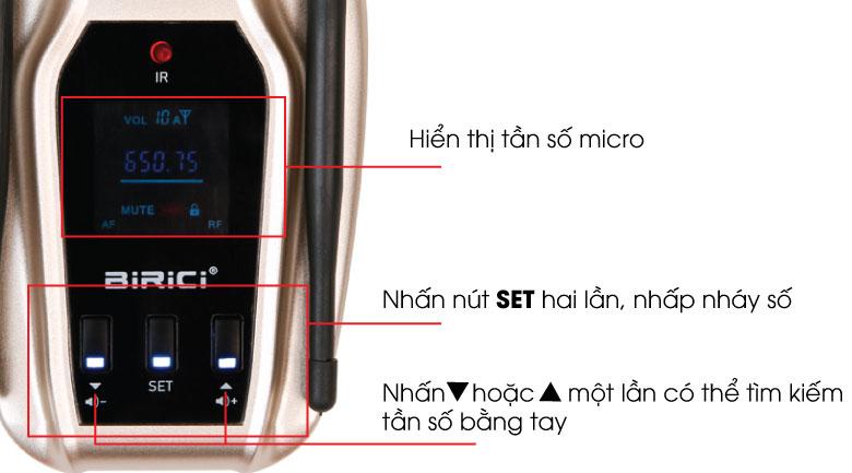 Micro không dây Birici KP-79 - Hướng dẫn sử dụng