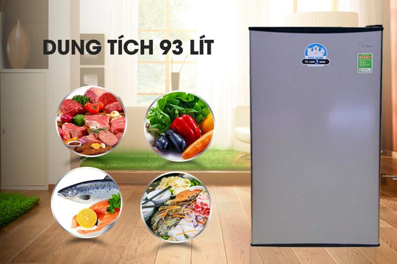 Tủ lạnh Midea HS-122TTY - Dung tích 93 lít