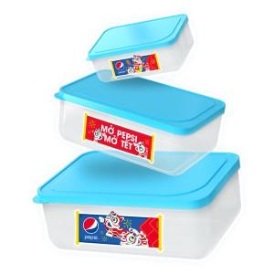 Bộ 3 hộp nhựa Pepsi