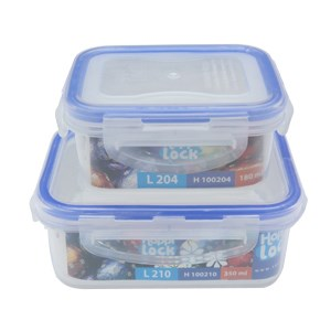 Bộ 2 món hộp nhựa Happi Lock