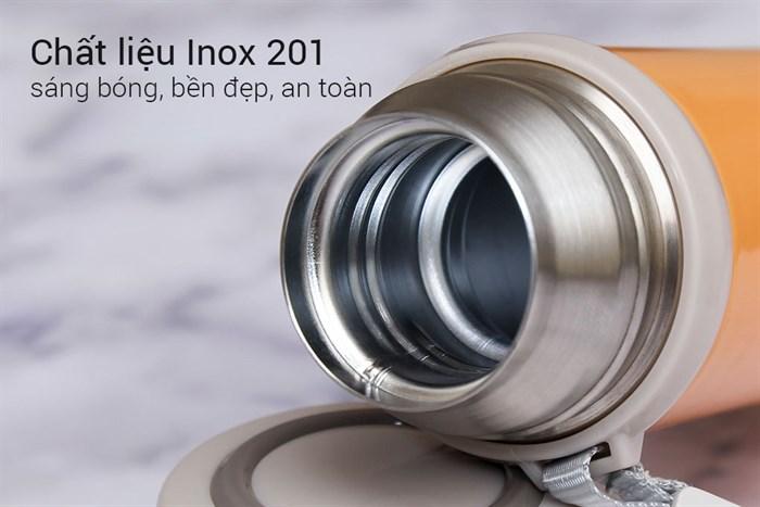 Bình giữ nhiệt chất lượng có cấu tạo 2 - 3 lớp, chất liệu inox an toàn