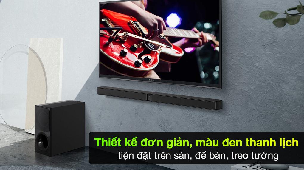 Dàn loa Sony HT-CT290/BM - Thiết kế hiện đại, trẻ trung