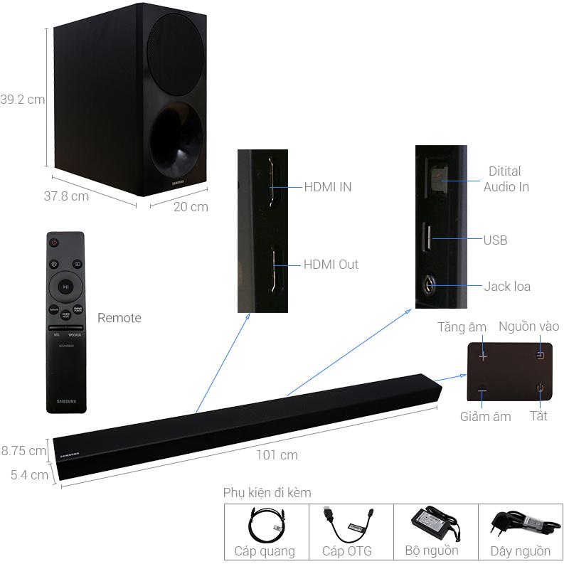 Thông số kỹ thuật Loa thanh Samsung HW-M550/XV