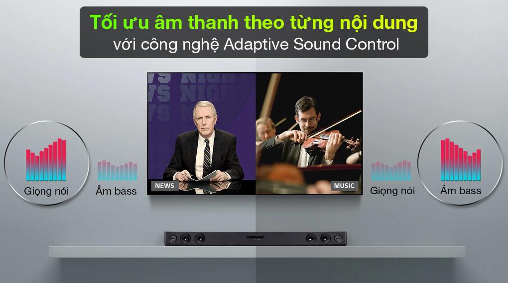 Loa thanh soundbar LG SJ3 - Tự động điều chỉnh âm thanh sao cho phù hợp với nội dung cùng công nghệ Adaptive Sound Control