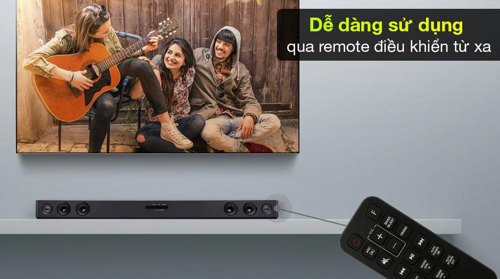 Loa thanh soundbar LG SJ3 - Tùy chỉnh các chức năng linh hoạt trên remote điều khiển từ xa