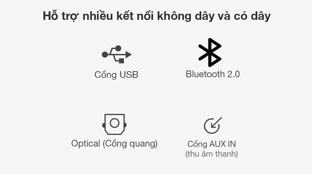 Loa thanh soundbar LG SJ3 - Đa dạng cổng kết nối trên loa soundbar