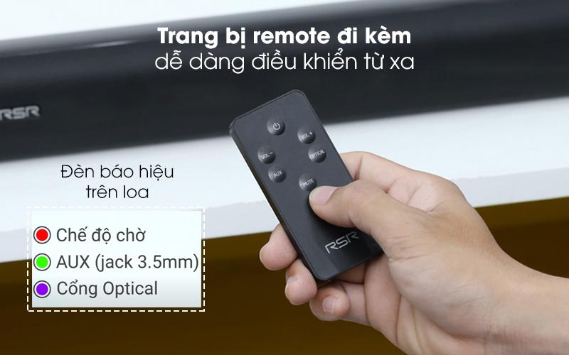 Trang bị remote cho người dùng dễ dàng điều khiển từ xa - Loa thanh Soundbar RSR TB221L 16W