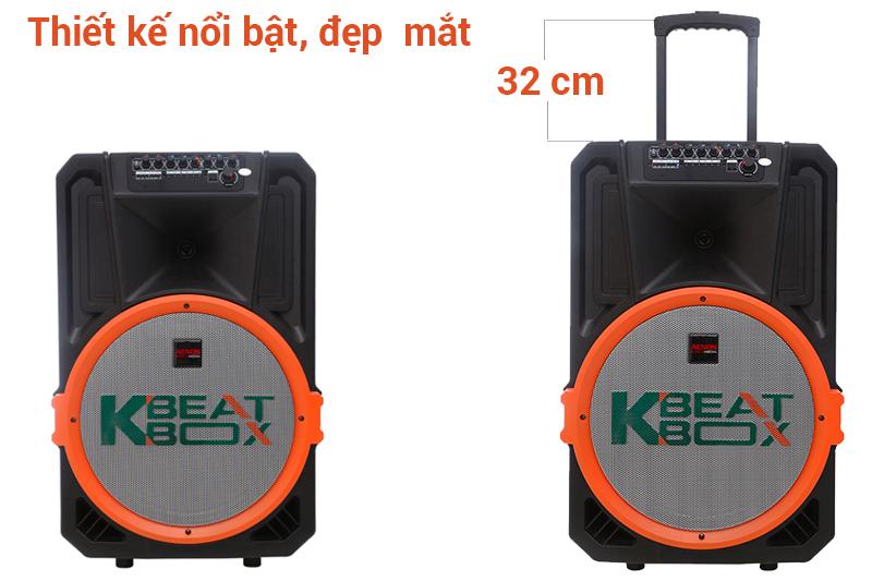 Thiết kế đẹp mắt, mới lạ - Loa kéo karaoke Acnos KB39U 300W