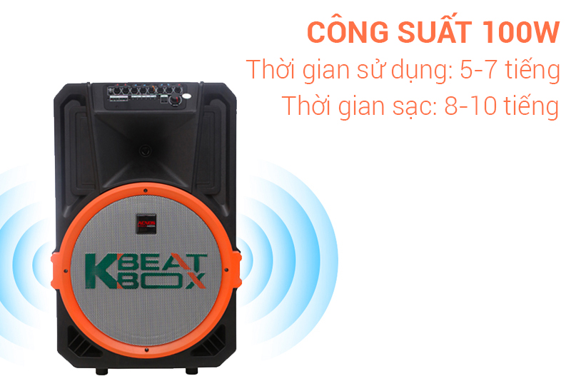 Công suất 100W Loa kéo karaoke 100 W Acnos KB39U