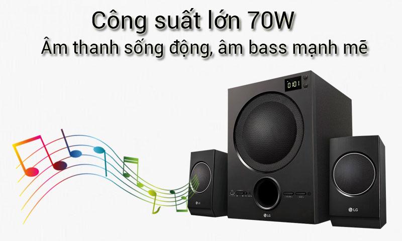 Âm thanh mạnh mẽ ấn tượng