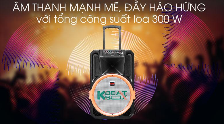 Dàn karaoke di động Acnos KB39S 300W - Công suất