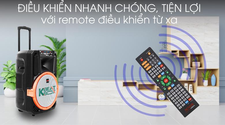 Dàn karaoke di động Acnos KB39S 300W - Remote