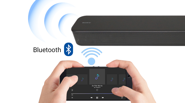 Kết nối Bluetooth trên Loa thanh Sony HT-S100F