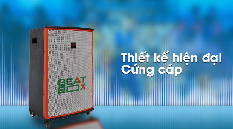 Thiết kế cứng cáp cùng viền màu cam trẻ trung trên Dàn karaoke di động Acnos KBZ15W 450W