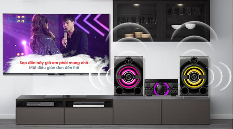 Giải trí hát Karaoke thoải mái trên Dàn âm thanh Sony MHC-M60D