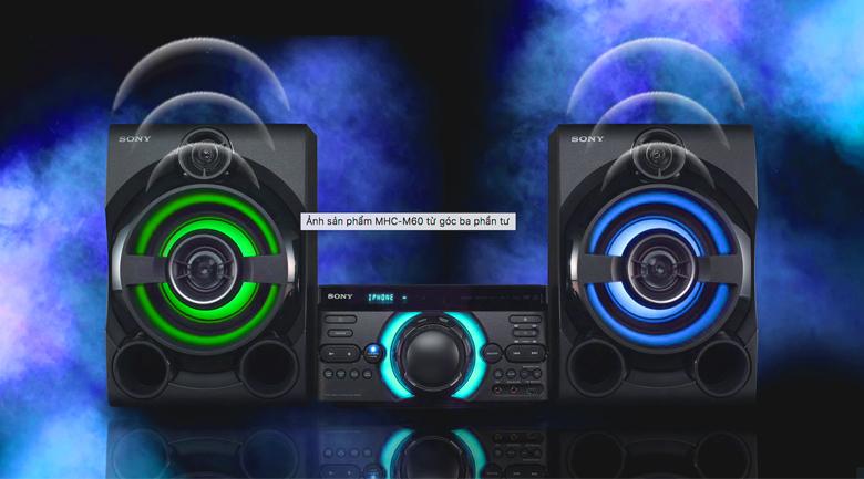 Hệ thống đèn trên Dàn âm thanh Sony MHC-M60D