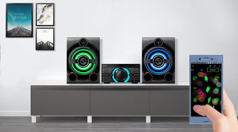 Ứng dụng Music Center hỗ trợ điều khiển Dàn âm thanh Sony MHC-M60D