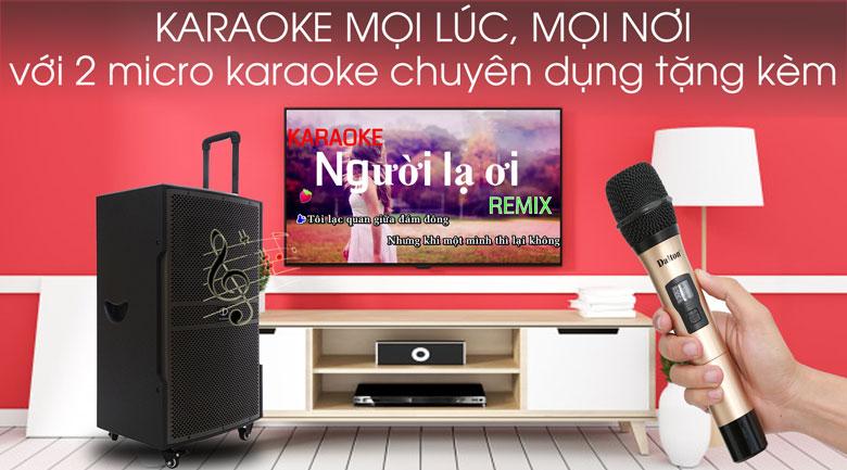 Hát karaoke thoải mái trên Loa kéo karaoke Dalton TS-15G600N 600W