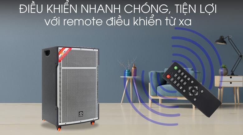 Loa kéo karaoke Dalton TS-18G850N 850W - Remote