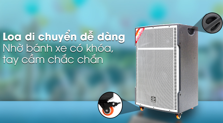 Loa kéo karaoke Dalton TS-18G850N 850W - Di chuyển linh hoạt