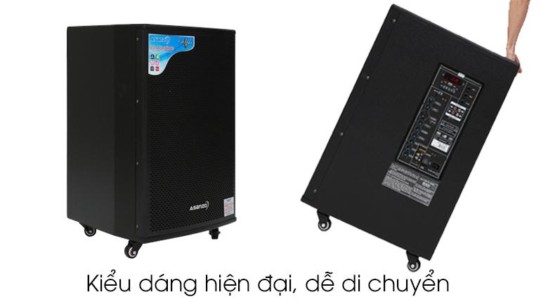 Thiết kế - Loa kéo karaoke Asanzo AL-7700 450 W
