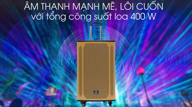 Âm thanh mạnh mẽ, lôi cuốn trên Loa kéo karaoke Rinton PL-9 400W