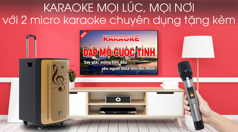 Trải nghiệm hát Karaoke trên Loa kéo karaoke Rinton PL-9 400W