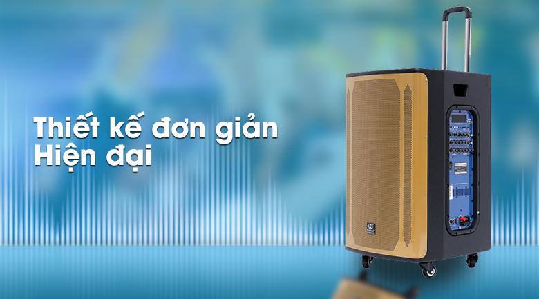 Thiết kế hiện đại, tối giản trên Loa kéo karaoke Rinton PL-9 400W