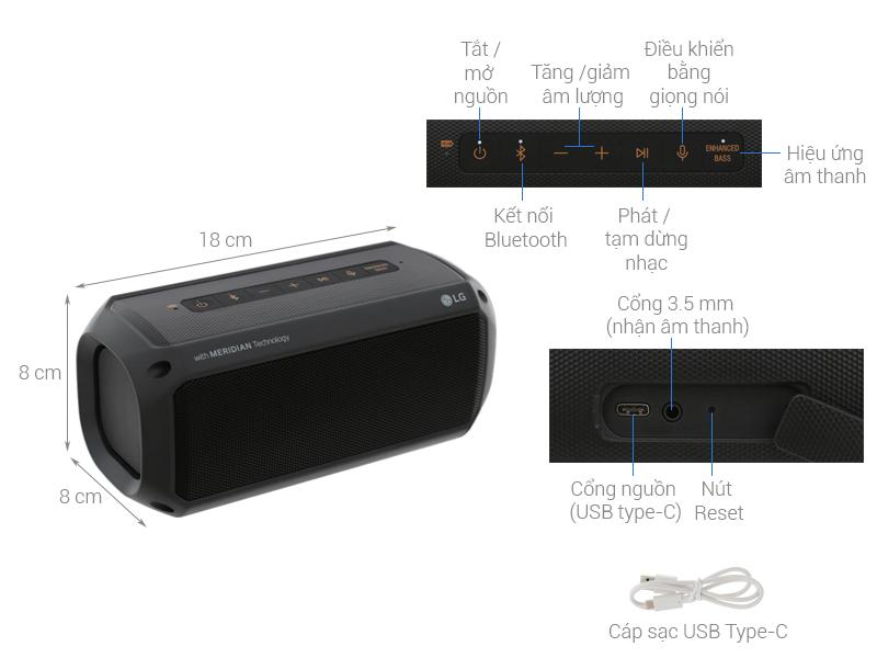 Thông số kỹ thuật Loa Bluetooth LG PK3
