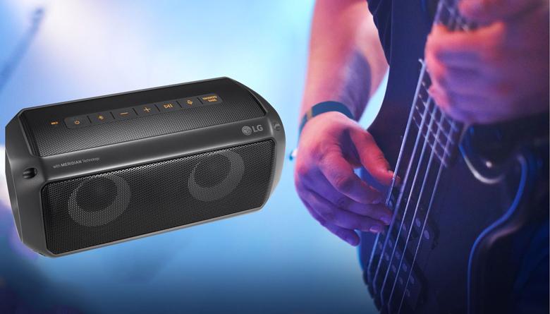 công nghệ Clear Vocal và Enhanced Bass trên Loa Bluetooth LG PK3