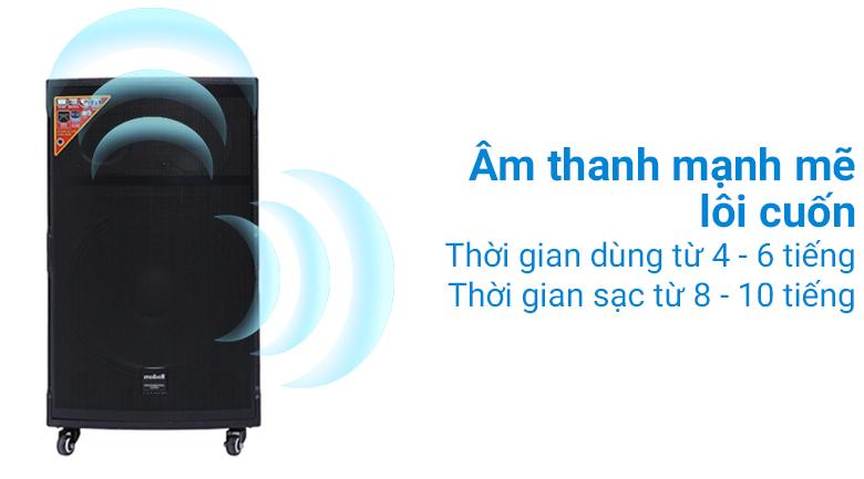 Âm thanh mạnh mẽ trên Loa kéo Karaoke Mobell K1501